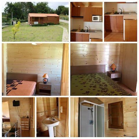 Casa madeira piscina t2 - Póvoa de Lanhoso - Dům v zemi