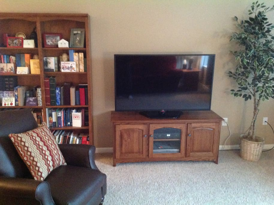 Feel free to borrow any of my books or enjoy my Smart HD TV (includes Netflix, over 270 channels, and over 70 HD channels). Be sure to check out all the pictures of my house by clicking on the arrow on the picture at the top of the page.