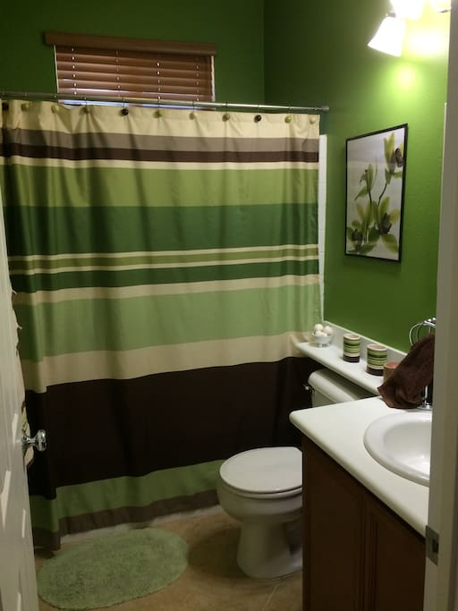 One of the two shared bathrooms.
