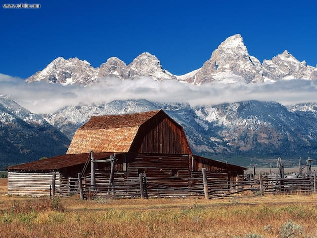 A quick drive to one of the most photographed barns in all of the United States ... with a pretty good view of the Grand Teton.