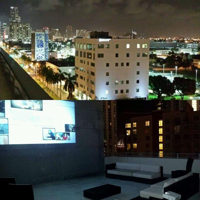 >1000 sq.ft. terrace. (Actual images).