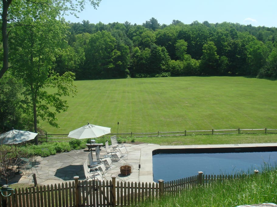 Pool as seen from screened-in porch