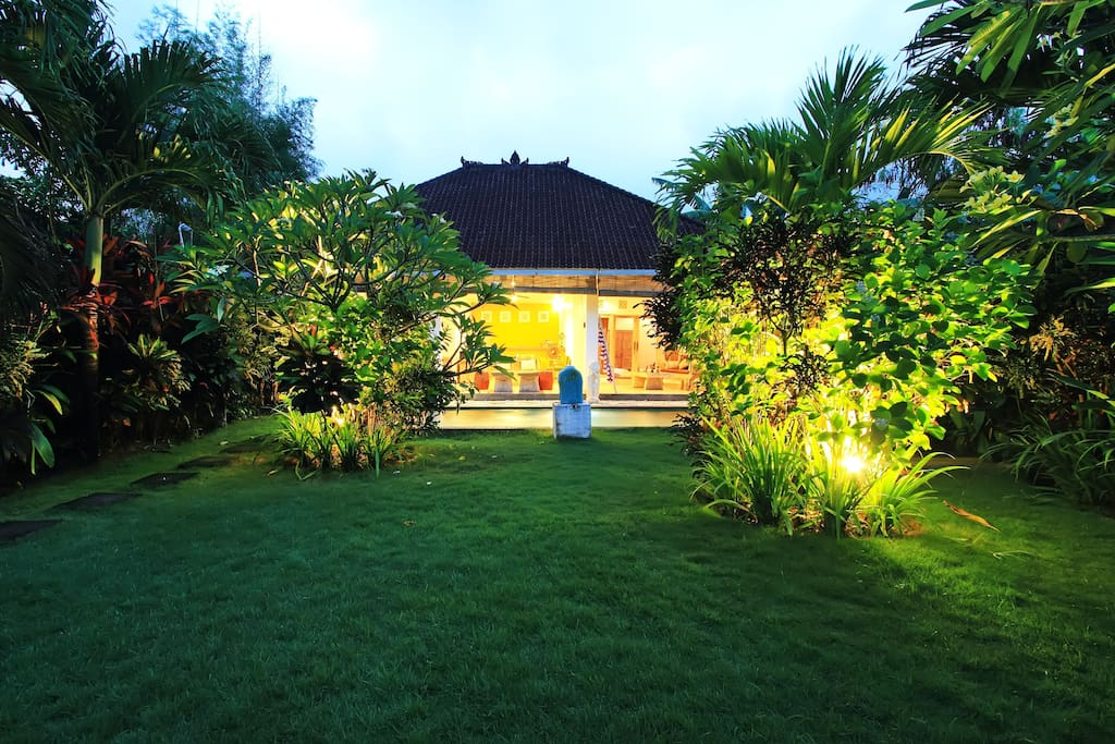 You have the space to think, this is your home in Bali. No road noise just the sounds of nature.