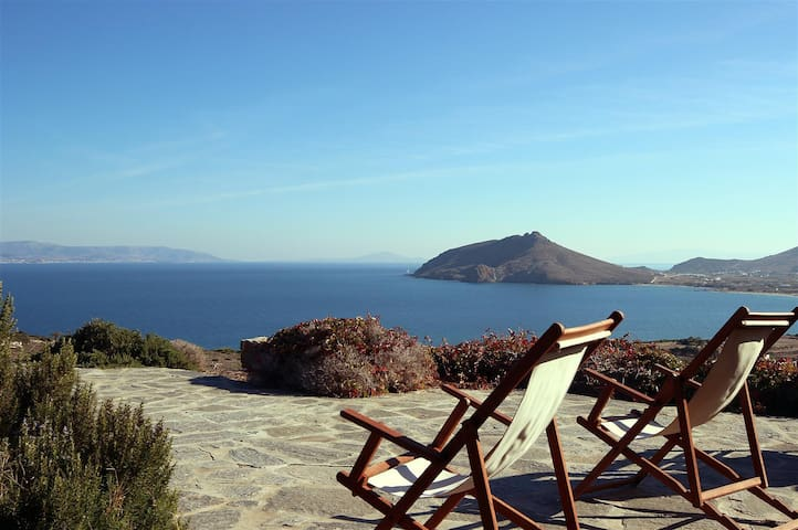 Traditional villa panoramic sea view - Paros - Hus