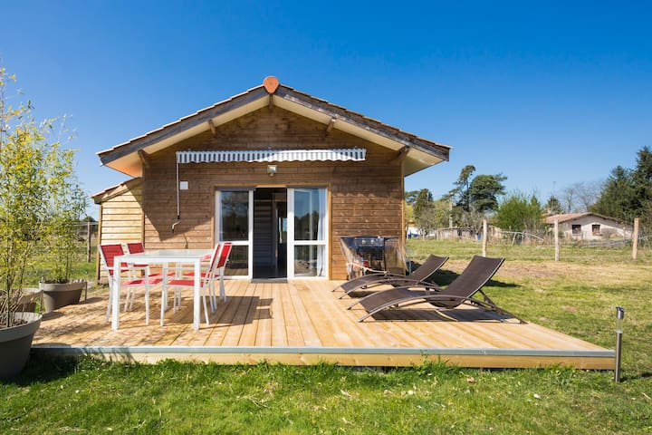 Chalet 4 pers. with shared swimming pool - Hourtin