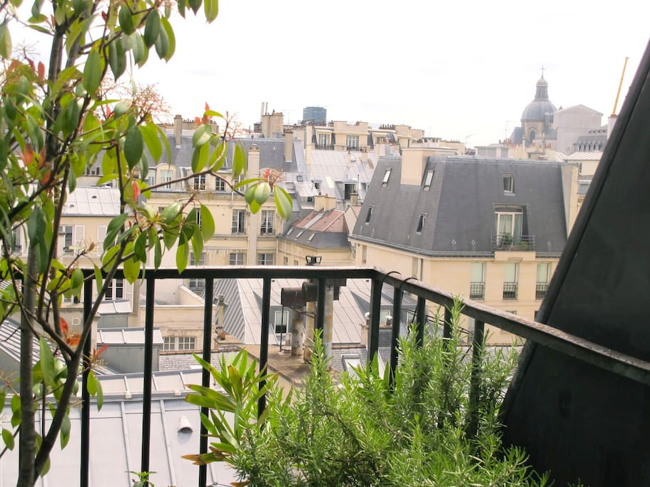 Du balcon, le clocher de Sait Paul