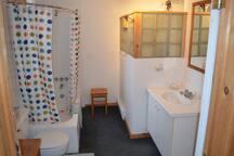 Bathroom adjacent to master bedroom