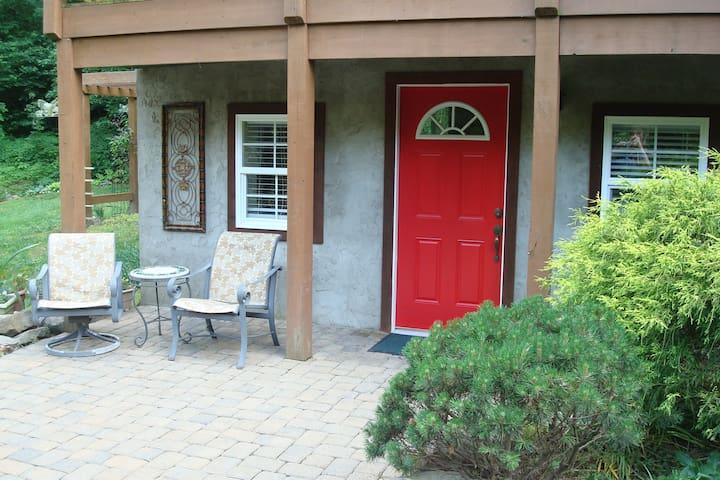 Enjoy your private patio & entrance.