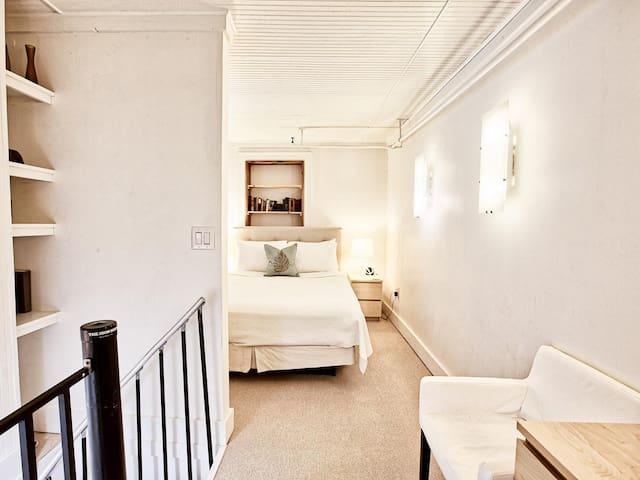 Queen bedroom on the second floor.
