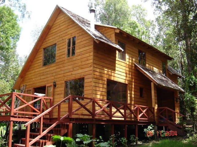 Acogedora casa, Lago Villarrica, bosque nativo