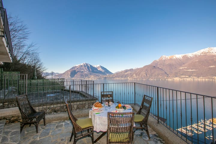 Private terrace with amazing lake views