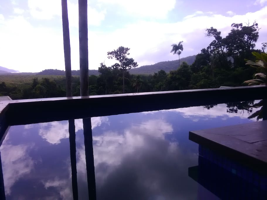 Ocean Views to Cape Tribulation from the Pool.
