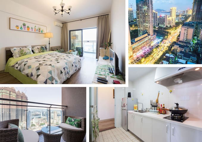 City center,private and cozy,great view,queen-size - 厦门市思明区 - Wohnung