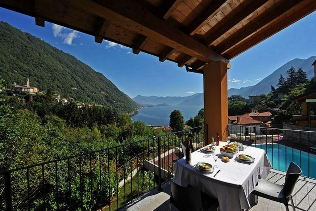 Private balcony with a view on the lake