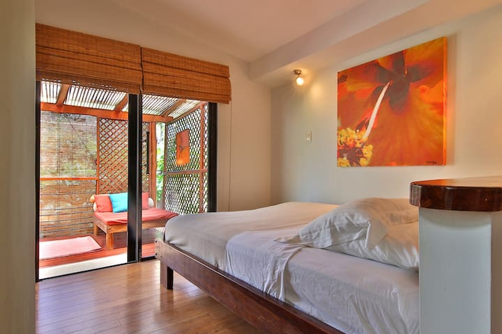 Your second bedroom's private balcony is a wonderful place to relax.