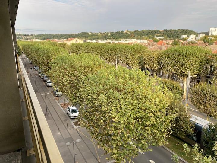 vue sur la plus belle avenue de Bordeaux