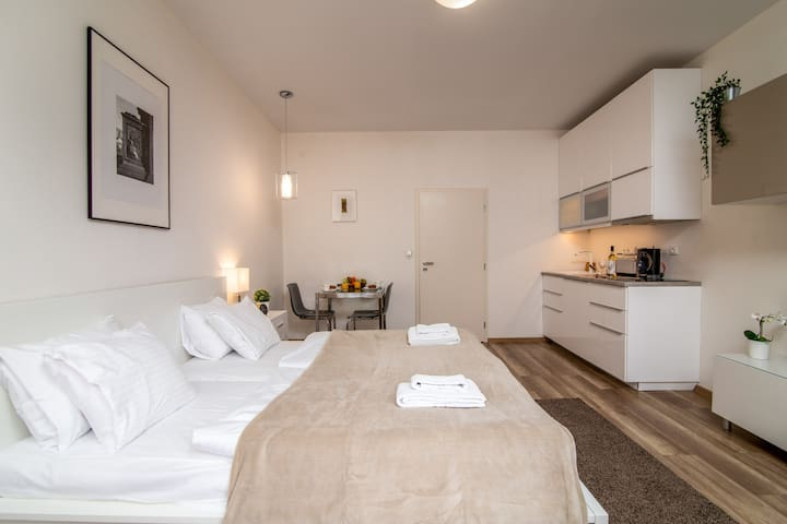 Four neighboring apartments w/ WiFi, Netflix, & well-equipped kitchenettes!