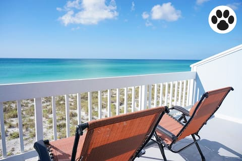 Gulf Front-Beach-Pet Friendly-Pool-Dock-Tennis!!!