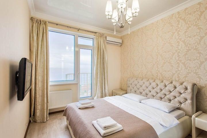 Аркадия, квартира с прямым видом на море, 16 этаж.