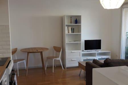 Grand studio de 35 m2 avec balcon, central