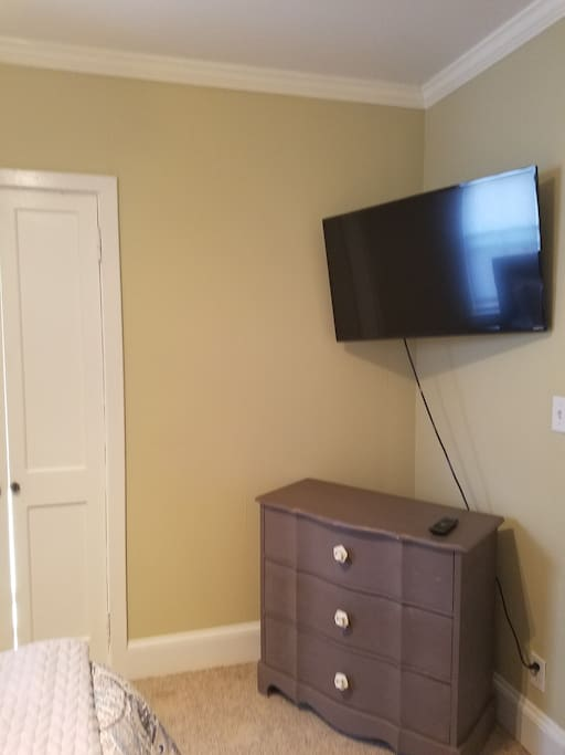 You have a TV in the bedroom and in the living room.