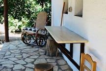 Porch outside the kitchen
