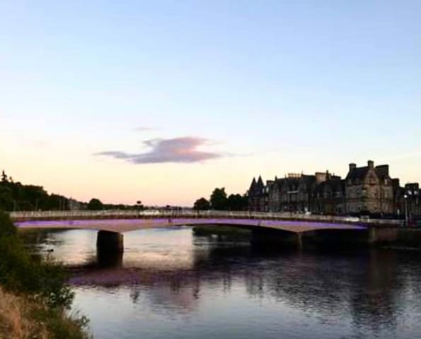 The river ness - bird clouds
