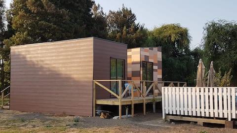 Mini cabañas independientes para 2 personas
