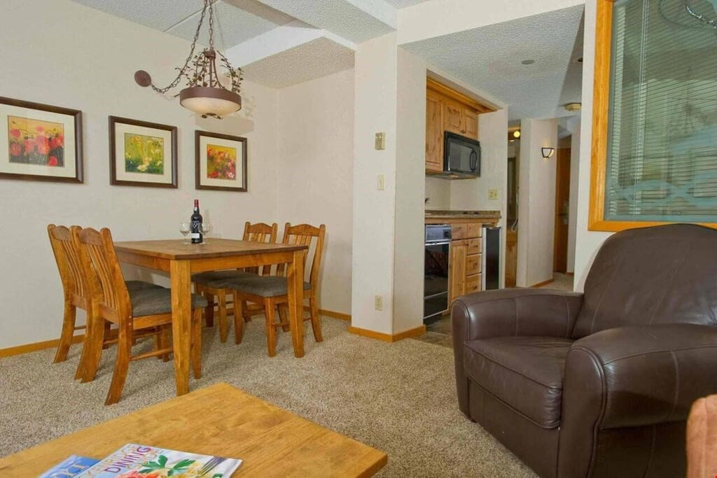 Enjoy meals together or entertain at the dining table.