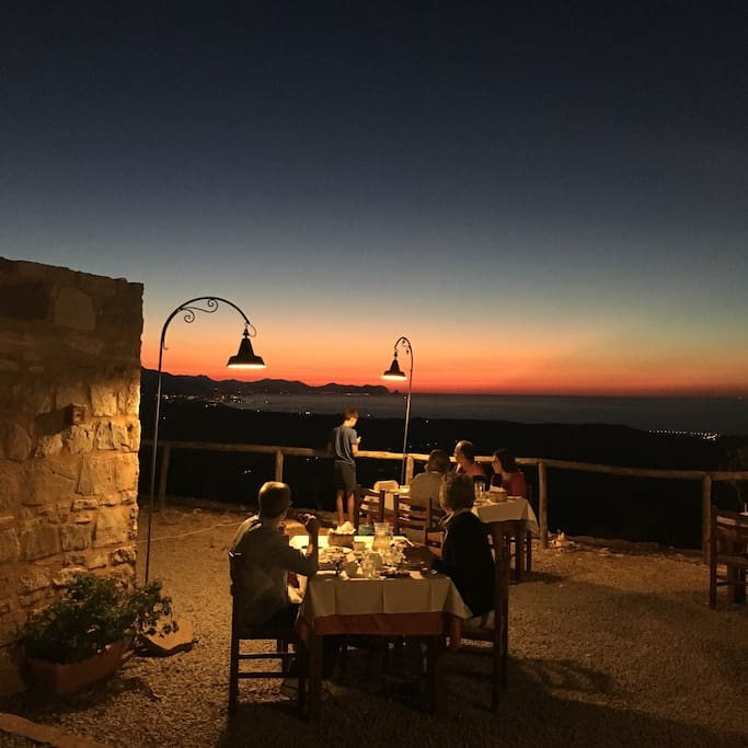 Cena con panorama serale