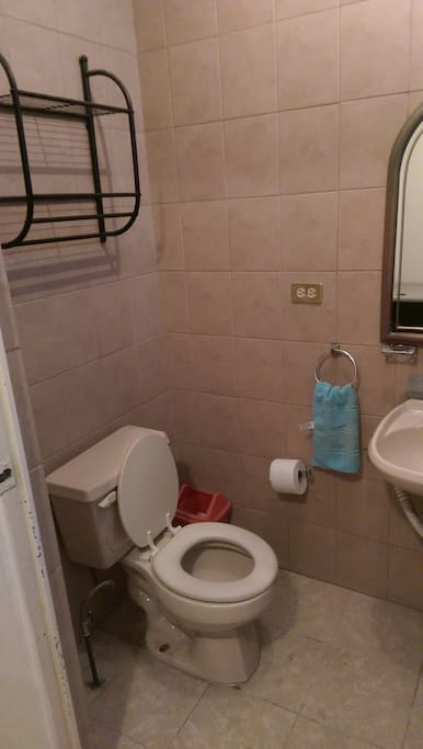 Baño propio con regadera
