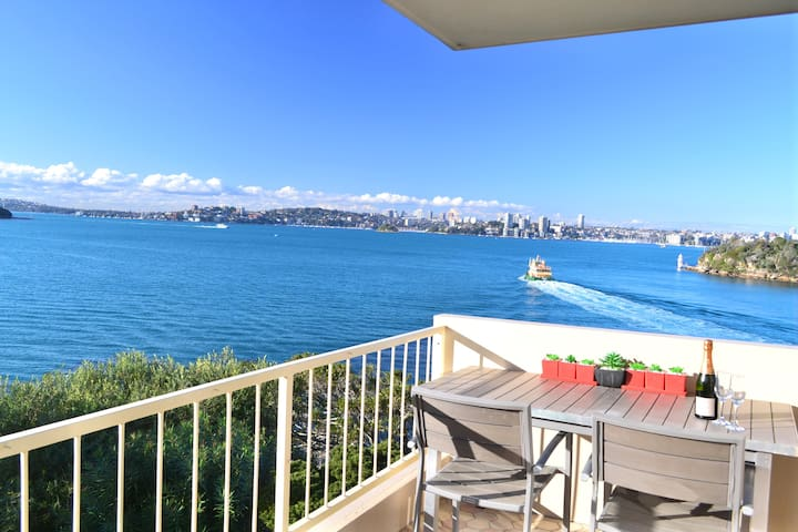Sunny waterfront apartment with BREATHTAKING VIEWS - Mosman - Flat