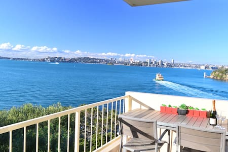 Sunny waterfront apartment with BREATHTAKING VIEWS - Mosman - Wohnung
