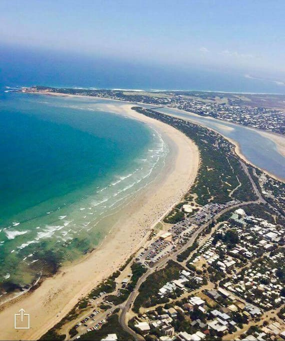 Aerial of Ocean Grove beach