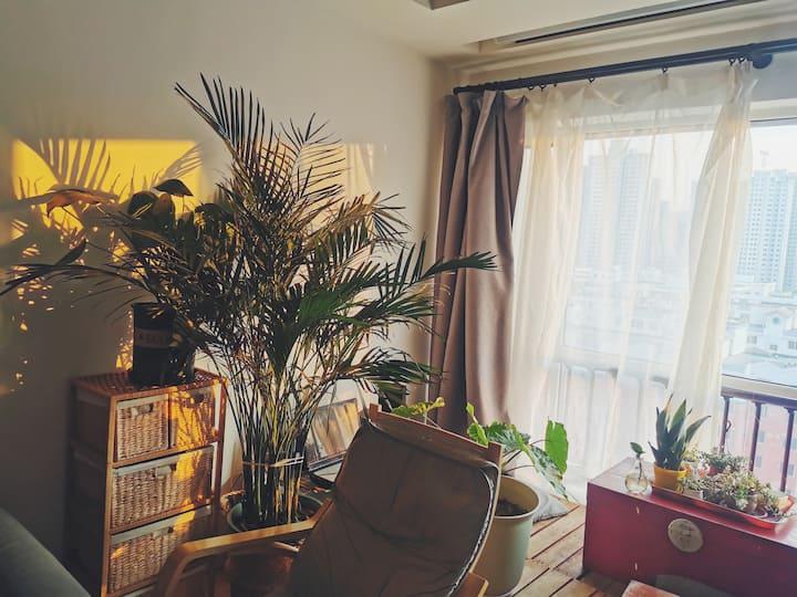 生活方便,位置优越!大投影可做饭空调双房独立公寓,靠近地铁西客站兰州SOHO中心万辉广场省博物馆。