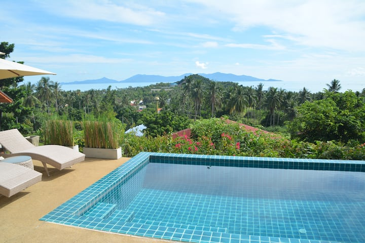 Sea view VILLA 185m² close Bophut and Maenam beach