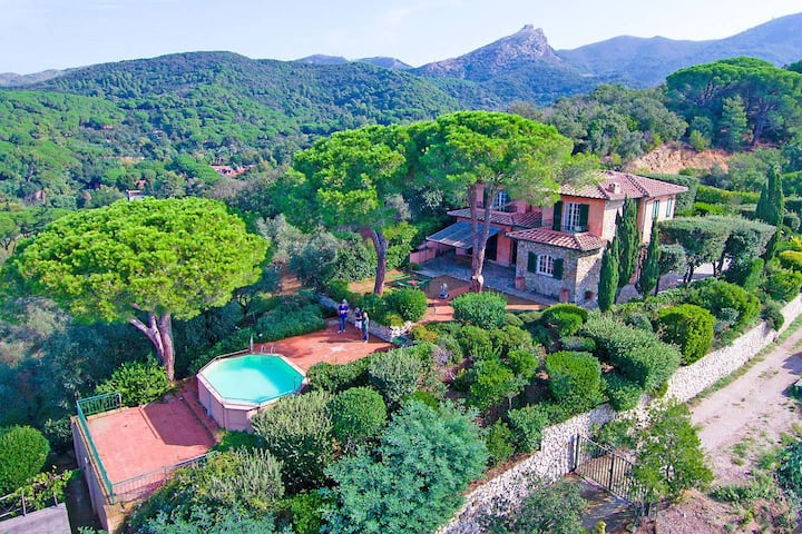 Tuscan Villa with pool and panorama - Elba Island