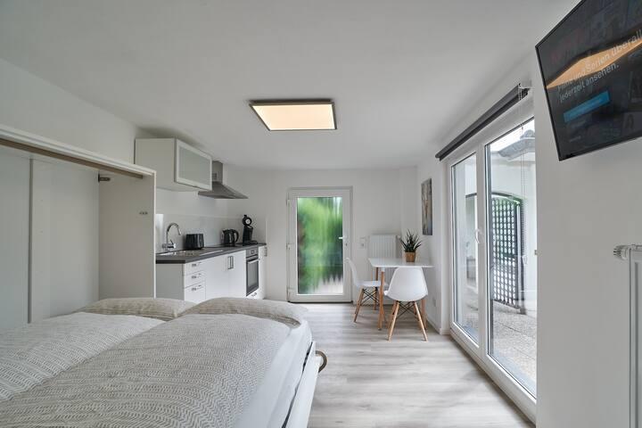Modernes Studio ideal für Pendler und Pärchen