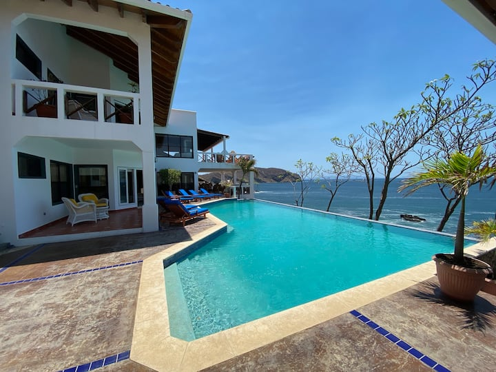 Private Oceanfront Villa with Large Pool