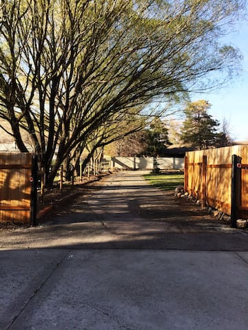 Private road to house