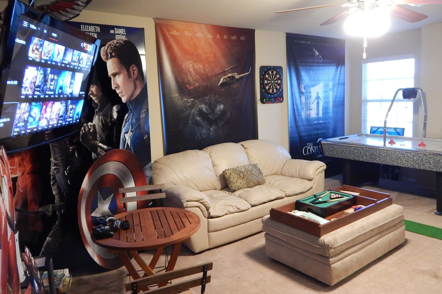 Relax in your private game room next to your room