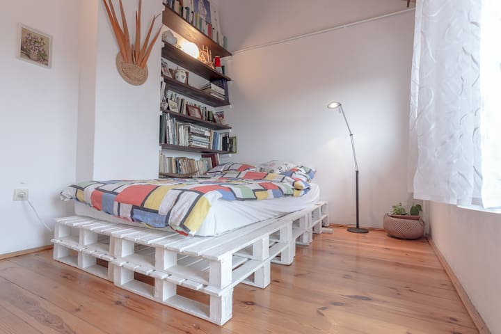 Big cosy room on the attic with balcony - Gdynia - House