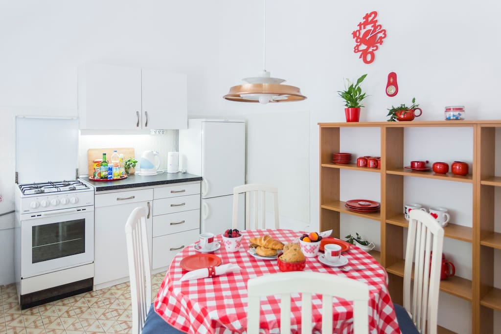 comfotrable kitchen  for enjoying your meals