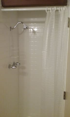 Newly remodeled shower.