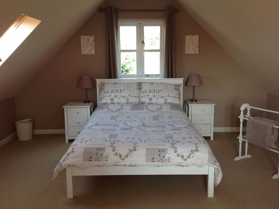 Lovely double bed.