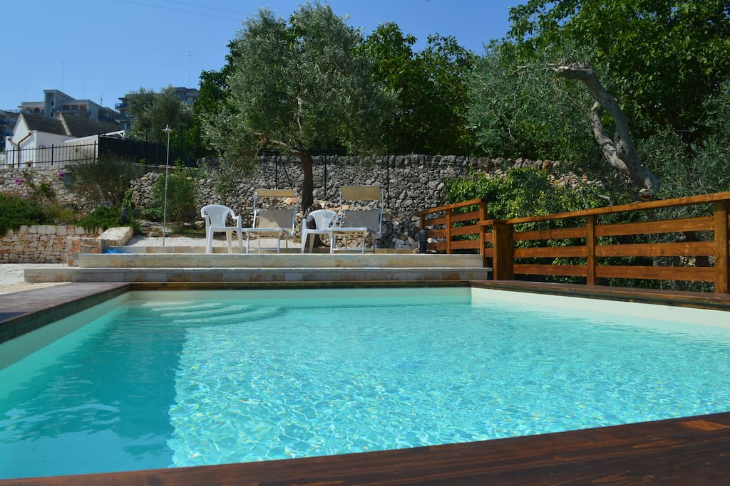 ancient farm among the olive trees with pool melo