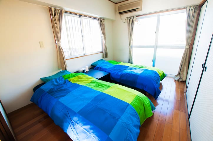 1Central of Nago, Cosy/Convenient Location + Wi-Fi - Nago-shi - Apartemen