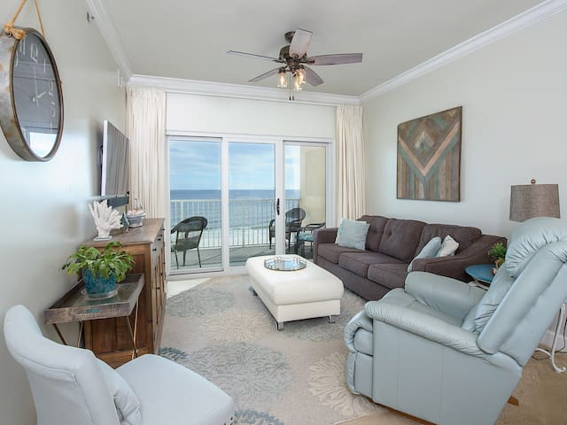 Gulf Views throughout Unit 507, Newly renovated Sea Inspired Condo, Private Balcony