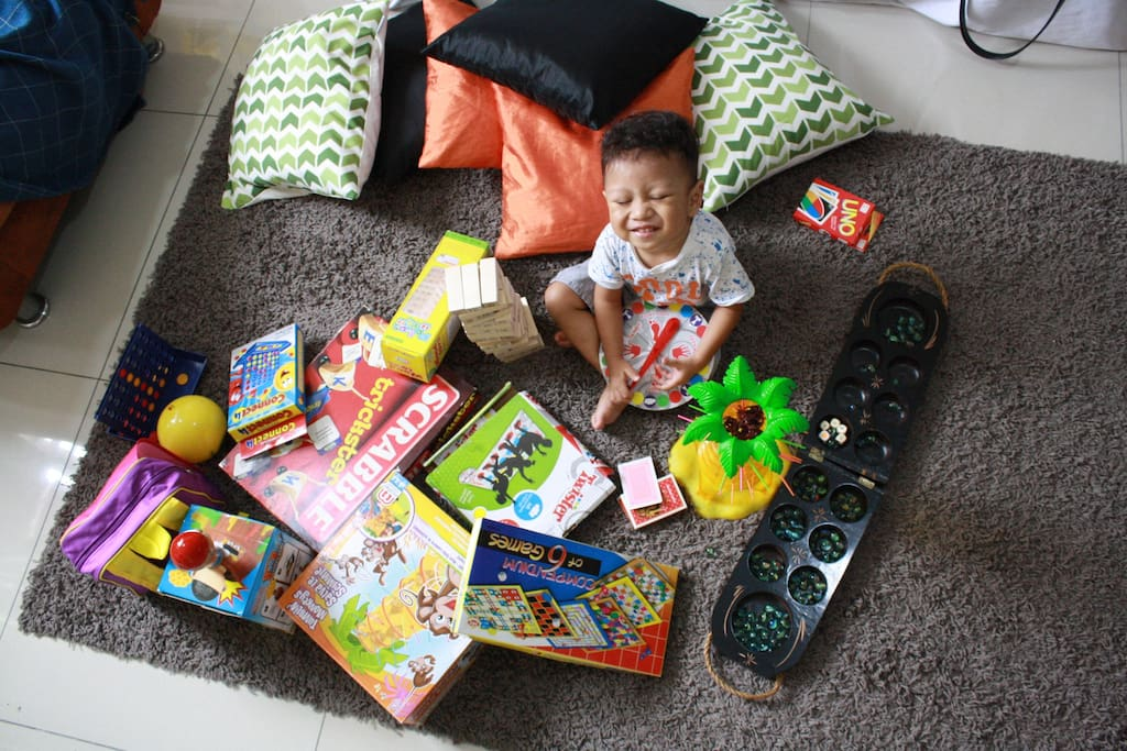 Board games and books especially for kids