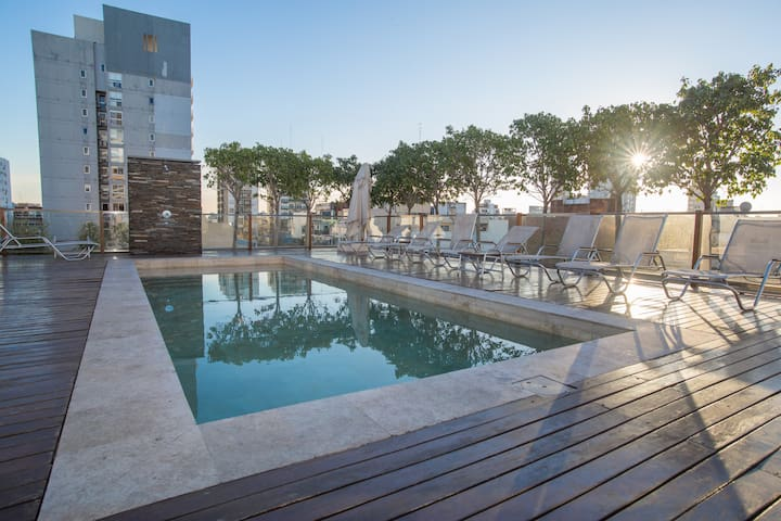 PALERMO SOHO - luxury studio, rooftop pool & gym